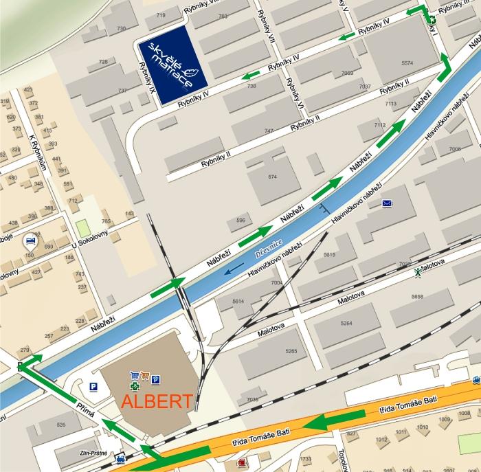 Prodejna Zlín mapa